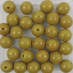 #21 25 Stück Perlen rund - Ø 8mm opak goldenrod