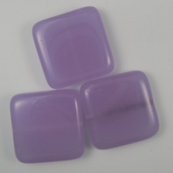 #21 - 1 Glasquadrat 19x19x5 mm - opal lt purple