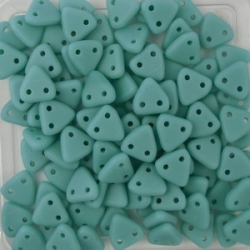 #10 10g Triangle-Beads 6mm - matte turquoise