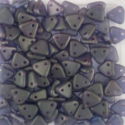 #28 10g Triangle-Beads 6mm - sapphire - copper picasso