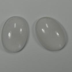 #28 - 1 Cabochon 25x18x7mm (LxBxH) - weiß