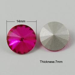 1 Glas-Rivoli Ø 14 mm - Pink