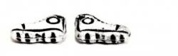 1 Paar Schuhe - 15*9 mm alabaster/schwarz