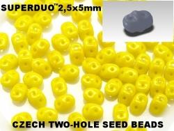 #096 10g SuperDuo-Beads opak yellow