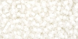 10 g TOHO Seed Beads 11/0 TR-11-0981 - Inside-Color Crystal/Snow-Lined (E)