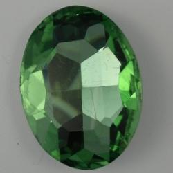 1 Glas-Oval Ø 30x20x8 mm - peridot