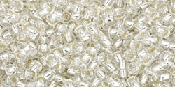 10 g TOHO Seed Beads 11/0 TR-11-0021 Crystal Silver-Lined (A,D)