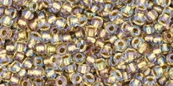 10 g TOHO Seed Beads 11/0 TR-11-0262 - Inside-Color Crystal/Gold Lined (E)