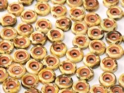 #06 50 Stck. Wheel Beads Ø 6mm - chalk white dk travertin