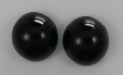 #13 - 1 Dome Bead 14x8mm - jet
