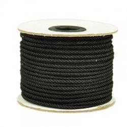 1 m Kordel - schwarz - Ø 4 mm