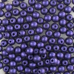 #97 50 Stück Perlen rund - met. suede lilac - Ø 4