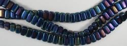 #25 - 50 Stück Two-Hole Bricks 3x6mm - blue iris