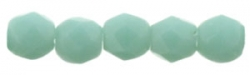 #21 50 Stück - 2,0 mm Glasschliffperlen - op Turquoise Matted