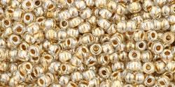 10 g TOHO Seed Beads 11/0 TR-11-0989 - Gold-Lined Crystal (E)