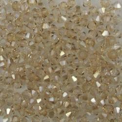 #15.1 25 Stück - 3,0 mm Crystal Bicone Crystal Honey