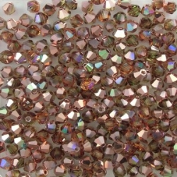 #02.7 25 Stück - 3,0 mm Crystal Bicone Topaz Rainbow Copper