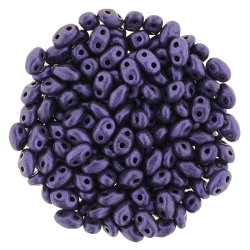 #13.00 - 10g MiniDuo-Beads  Metallic Suede - Purple