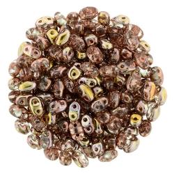 #01.03 - 10g MiniDuo-Beads  Crystal Apollo Gold