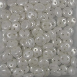 #01.01 - 50 Stück Two-Hole Lentils 6mm - alabaster hematite