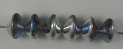 #01.05 - 25 Stück Ufo Beads 7x11mm - crystal silver rainbow