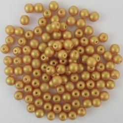 #01.01 50 Stck. Perlen rund Ø 4 mm - GoldShine - Gold