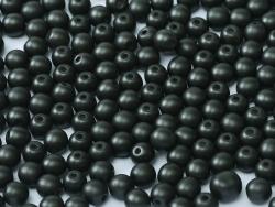 #36.01 - 50 Stck. Perlen rund Ø 3 mm - Metallic Black