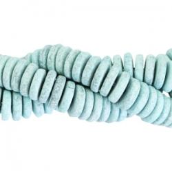 #06 - 10 Stck. Griechische Keramik ca. 8x2,2 mm - stonewash - haze blue