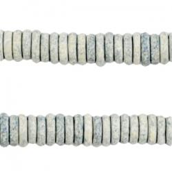 #07 - 10 Stck. Griechische Keramik ca. 8x2,2 mm - stonewash - lt blue