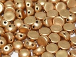 #34 25 Stck. 2-Hole Cabochon 6mm Aztec Gold