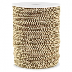 0,5 m Fashion Wire flach 5mm braun-gold