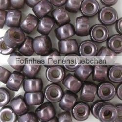 #02.00 - 25 Stück Roller Beads 6x4 mm - smoky topaz/lazure blue