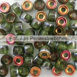 #07.01 - 25 Stück Roller Beads 6x4 mm - olivine marea
