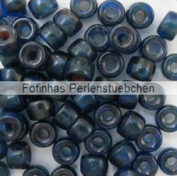 #05.02 - 25 Stück Roller Beads 6x4 mm - cobalt travertin