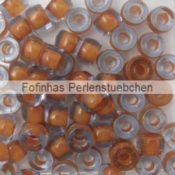 #04.02 - 25 Stück Roller Beads 6x4 mm - sapphire hyacinth lined