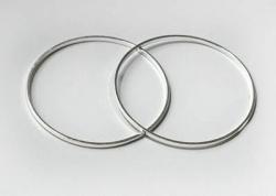 5 Stück Metallringe Ø25 mm silver