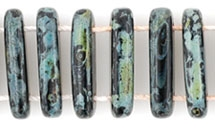 1 Strang 2-Hole Bar 15x5mm - Jet Picasso