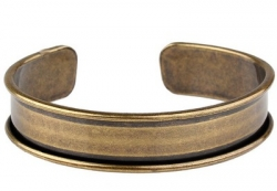 1 Armreif aus Metall - antique bronze