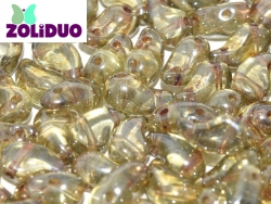 #01.05a - 25 Stück Zoliduo Right Version 5 x 8 mm Crystal Green Luster