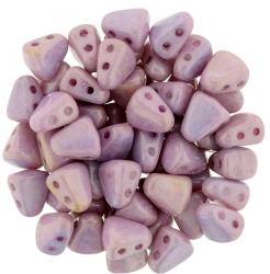 #02.04 - 25 Stck. NIB-BIT-Beads 6x5mm - White Luster - Pink