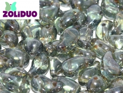 #01.04a - 25 Stück Zoliduo Right Version 5 x 8 mm Crystal Blue Luster