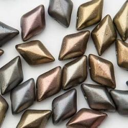 #01.01 - 25 Stück GemDUO 5x8 mm - Crystal Matte Metallic Leather