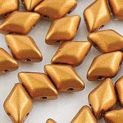 #01.03 - 25 Stück GemDUO 5x8 mm - Crystal Matte Metallic Brass Gold
