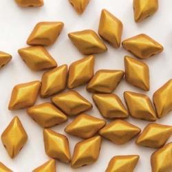 #02.02 - 25 Stück GemDUO 5x8 mm - Alabaster Gold Shine Gold