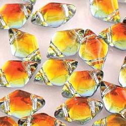 #01.14 - 25 Stück GemDUO 5x8 mm - Crystal BACKLIT - Tequila