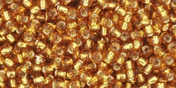 10 g TOHO Seed Beads 11/0 TR-11-0022 C Silver-Lined Topaz (A,D)