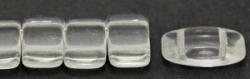#01.00 - 10 Stück Zweiloch-Glasperle 9x17 mm - Crystal