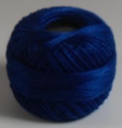10 Gramm Gold Perlgarn cobalt blau - N° 8