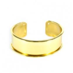 1 Armreif aus Metall - gold