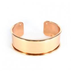 1 Armreif aus Metall - rosé gold